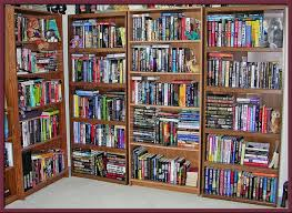 Full Bookcase Bookshelf On Wall Home Decor