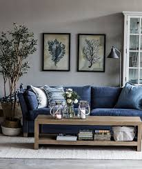 Living Room Blue Sofa прибрежные зарисовки от Home Cottage Living Rooms Room And House