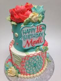 bright colors in buttercream butter cream cakes pinterest