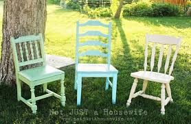 painted chairs in the garden carolyn 39 s funky furniture the