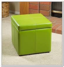 Microfiber Storage Ottoman Storage Ottoman Cube Seat Home Design Ideas
