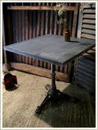 Zinc Top Bistro Table Patchwork Zinc Sliding Bathroom Door Zinc Table Tops Distressed