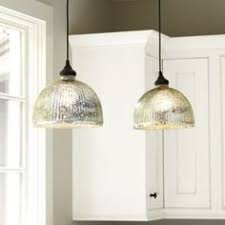 Mercury Glass Island Light Ribbed Dome Mercury Glass Shade Pendant Light Glass Shades