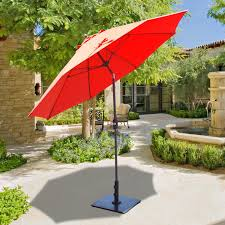Aluminum Patio Umbrella by Galtech 9 Ft Aluminum Patio Umbrella With Crank Lift And Manual