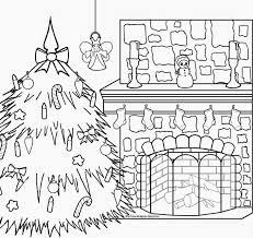 christmas fireplace coloring pages u2013 happy holidays
