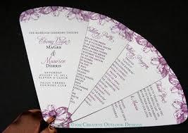 Wedding Program On A Fan 12 Best Fan Shaped Wedding Program Images On Pinterest Fan