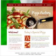 pizza factory template free website templates in css html js