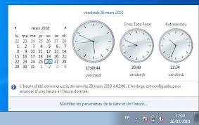afficher l heure sur le bureau afficher plusieurs horloges sous windows 7