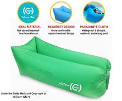 Inflatable Sofa Amazon Com Hicom Mart Portable Inflatable Lounger Air Chair
