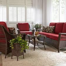 Lay Z Boy Furniture La Z Boy Outdoor Scarlett 4 Piece Seating Set Red Limited
