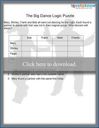 Printable Logic Puzzles Dance Logic Puzzle With Grid