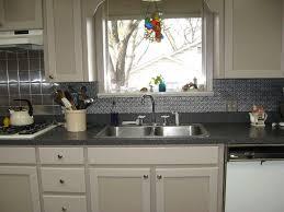 metallic kitchen backsplash lummy black granite counter design feat metal sink faucet as