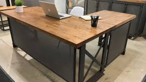 Desk L Diy Popular Industrial L Shaped Desk Within Office Rustic Design Diy