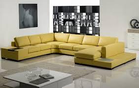 Modern Yellow Sofa Yellow Leather Sectional Sofa Tos Lf 2029 Yel