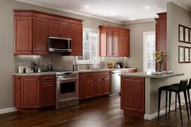 kitchen cabinet cherry kitchen cabinets brown vintage leather