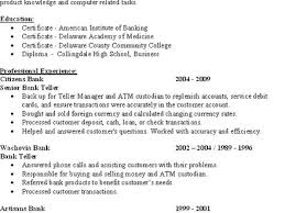 bank teller resume sample writing tips resume genius sample