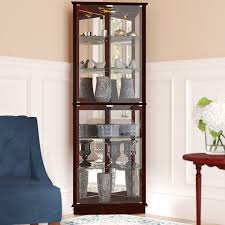 Curio Cabinet Accent Lighting Andover Mills Randalstown Lighted Corner Curio Cabinet U0026 Reviews