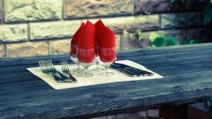 Blue Table Menu Free Images Table Fork Cutlery Wood Sidewalk Glass