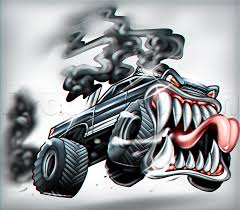 monster trucks drawings learn how to draw a truck tattoo tattoos pop culture free step