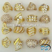 big gold rings images Big yellow gold plated australia rhinestone rings buy yellow jpg