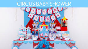 circus blue baby shower party ideas circus blue s7 youtube