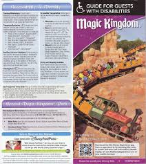 Disney World Map Magic Kingdom by Disabled Walt Disney World Guidemaps