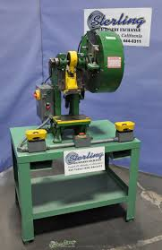 used benchmaster air clutch punch press sterling machinery