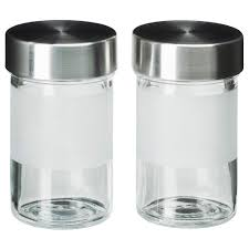 droppar spice jar frosted glass stainless steel ikea shopping