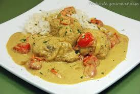 curry de lotte au lait de coco péché de gourmandise
