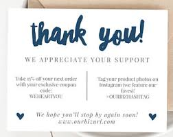 business thank you cards shop business card etsy