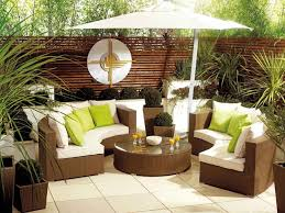 Patio Half Umbrella Architecture Awesome Terrace Space Ideas With Brown Half Outdoor