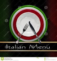 Green Red And White Flag Italian Restaurant Menu Design Stock Illustration Illustration