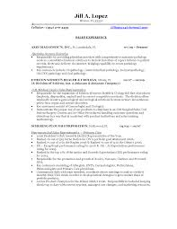 Sample Resume Objectives For Electronics Technician by University Of Miami Photos Sample Resume For Sales Representative