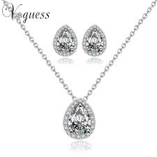 engagement jewelry sets voguess hot selling engagement jewelry sets white gold color
