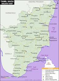 tamil nadu map rail map india tamilnadu railway map