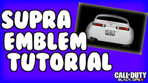 toyota supra logo black ops 3 supra emblem tutorial bo3 emblems youtube