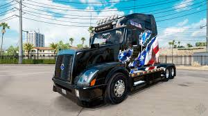 American Flag On Truck American Flag Skin For Volvo Truck Vnl 670 For American Truck