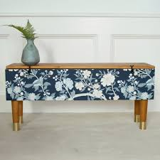 wallpapered bench by prettypegs prettypegs diy auction