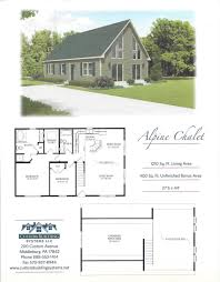 Custom Home Plans And Pricing Cbs Alpine Chalet Jpg