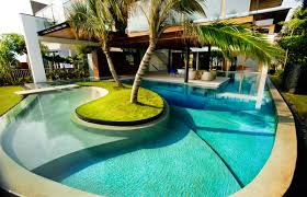 Swimming Pool House Plans Swimming Pool Design With Unique Center Island Idea Best