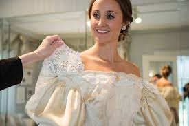 Wedding Dresses For The Older Bride Bride Is 11th Woman In Her Family To Wear 120 Year Old Wedding