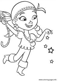 izzy jake neverland pirates coloring pages printable