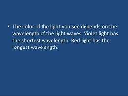 What Color Of Visible Light Has The Longest Wavelength Light Waves