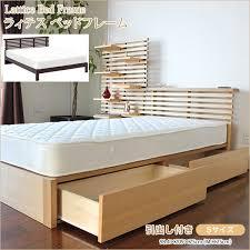 wooden base bed kagumaru rakuten global market wooden bed single drawer with