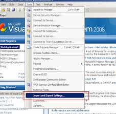 visual studio reset application settings reset visual studio 2008 default settings jamil haddadin