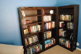 furniture appealing white target bookcases with table lamp and