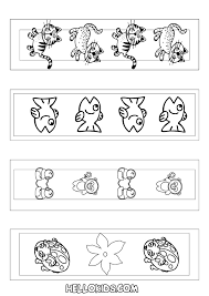 how to craft cute animal bookmarks coloring page hellokids com