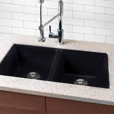 undermount kitchen sink highpoint collection granite composite black undermount kitchen sink