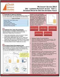 amazon com microsoft access 2013 quick reference guide