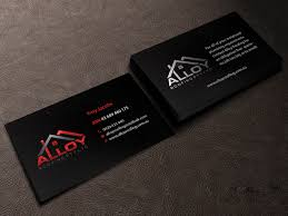 modern professional business card design for alloy roofing pty